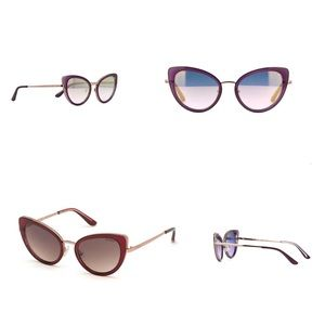 GUESS Violet and Gold Cateye Sunglasses with Case